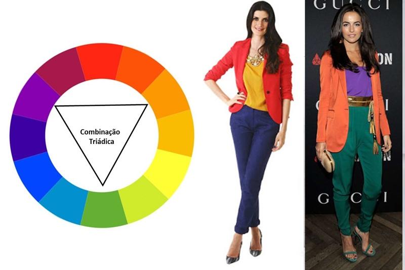 Combinação de cores triádica