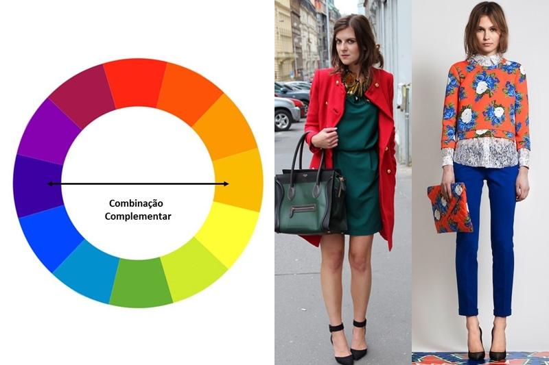 Combinação de cores complementares