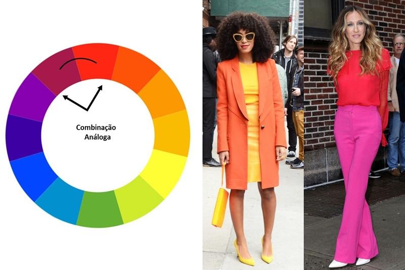 combinação de cores análogas